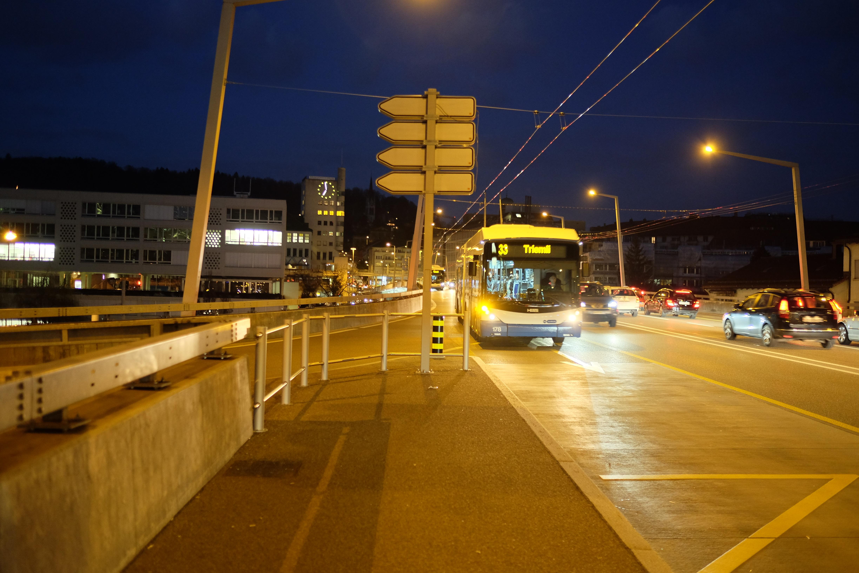 Zürich public transport at night